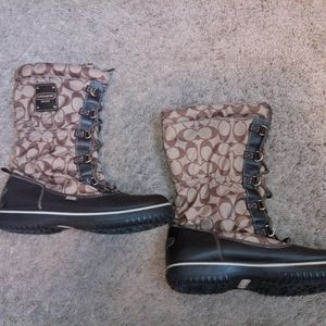 Women Coach Rain Winter Boots